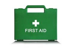 Ponga verde el rectángulo de los primeros auxilios Imagen de archivo