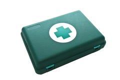 Ponga verde el rectángulo de los primeros auxilios Fotos de archivo libres de regalías