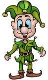 Ponga verde el sacador sonriente - vector ilustración del vector