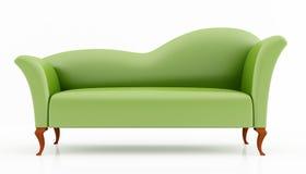 Ponga verde el sofá de la manera libre illustration