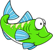 Ponga verde el vector de los pescados Imagen de archivo libre de regalías