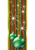 Ponga verde la bandera de la Navidad Imágenes de archivo libres de regalías