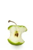 Ponga verde la base de la manzana Fotos de archivo