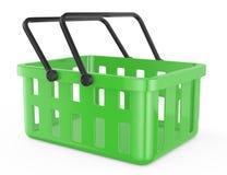 Ponga verde la cesta de compras stock de ilustración
