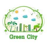 Ponga verde la ciudad Imagenes de archivo