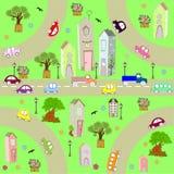 Ponga verde la ciudad Foto de archivo libre de regalías