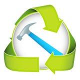 Ponga verde la construcción Imagen de archivo libre de regalías