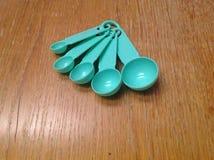 Ponga verde la cuchara Foto de archivo libre de regalías