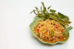 Ponga verde la ensalada de la papaya Fotografía de archivo