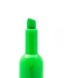 Ponga verde la etiqueta de plástico fotos de archivo