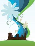 Ponga verde la fábrica stock de ilustración