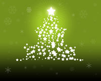 Ponga verde la ilustración del árbol de navidad ilustración del vector