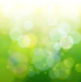Ponga verde la luz abstracta del bokeh Foto de archivo