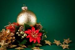 Ponga verde la tarjeta de Navidad Fotografía de archivo