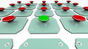 Ponga verde la tecla de partida stock de ilustración