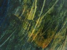Ponga verde la textura de la pintura de petróleo Fotos de archivo