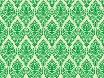 Ponga verde la textura inconsútil del damasco Imagen de archivo