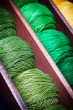 Ponga verde las cuerdas de rosca Foto de archivo libre de regalías