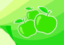 Ponga verde las manzanas ilustración del vector