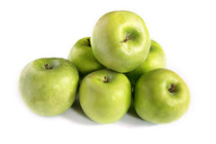 Ponga verde las manzanas Fotos de archivo
