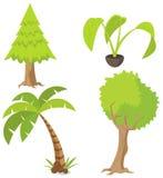 Ponga verde los árboles Foto de archivo libre de regalías