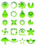 Ponga verde los iconos Imagen de archivo libre de regalías