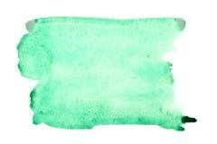 Ponga verde los movimientos del cepillo de la acuarela fotos de archivo