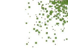 Ponga verde los rectángulos (el vector) stock de ilustración