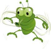 Ponga verde un insecto ilustración del vector