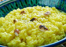 Pongal chutney. South Indian Rice and Lentils Risotto with Coconut Chutney Royalty Free Stock Photo