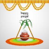 Pongal-Hintergrund Stockfotografie