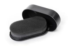 Éponge d'éclat de chaussure Images stock