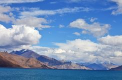 Pongong Tso lake, Ladakh, Jammu & Kashmir Royalty Free Stock Photography