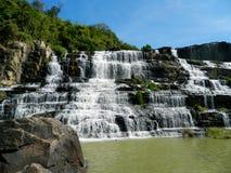 Pongour瀑布在越南 图库摄影