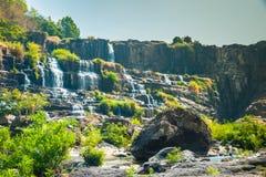 Pongour瀑布,越南 免版税图库摄影