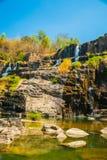 Pongour瀑布,越南 图库摄影