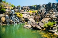 Pongour瀑布,越南 库存照片