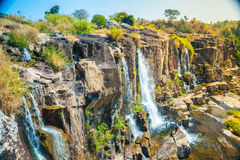 Pongour瀑布,越南 库存图片