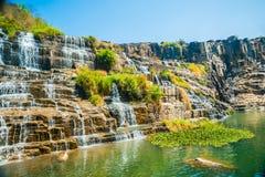 Pongour瀑布,越南 免版税库存图片