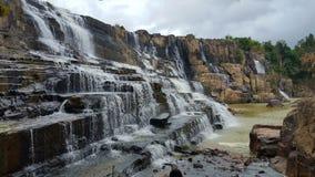 Pongour Falls. A waterwall near Dalat, Vietnam Royalty Free Stock Photos