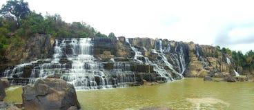 Pongour Falls. A waterwall near Dalat, Vietnam Royalty Free Stock Images