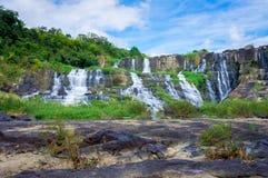 Pongour vattenfall, Lam Dong, Vietnam Arkivfoto