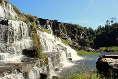 Pongour vattenfall, Vietnam Arkivbilder