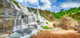 Pongour waterfall Royalty Free Stock Photo