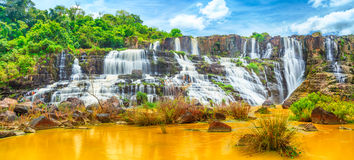 Pongour waterfall. Panorama Royalty Free Stock Photo