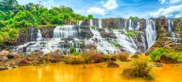 Pongour waterfall. Panorama royalty free stock photo