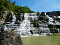 Pongour waterfall in Vietnam Stock Photography