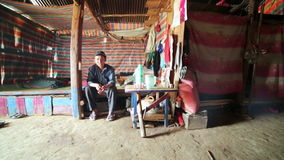 PONGSALI, LAOS - APRIL 2014: Homestay tribal Akha house stock video