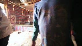 PONGSALI, LAOS - APRIL 2014: Homestay tribal Akha house stock video