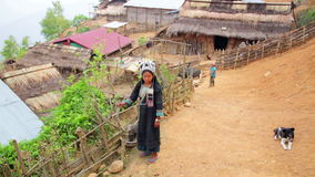 PONGSALI, LAOS - APRIL 2014: indigenous native tribal people stock footage